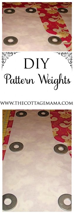 DIY Pattern Weights from The Cottage Mama. www.thecottagemama.com