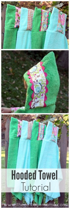 Hooded Towel Tutorial from The Cottage Mama.