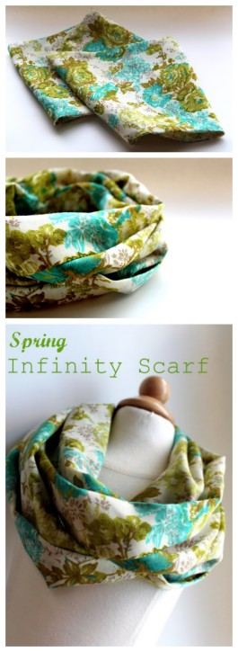 Spring Infinity Scarf from The Cottage Mama