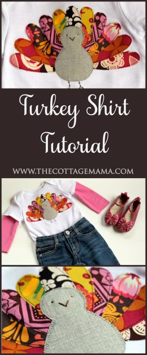 Turkey Shirt Tutorial from The Cottage Mama. www.thecottagemama.com