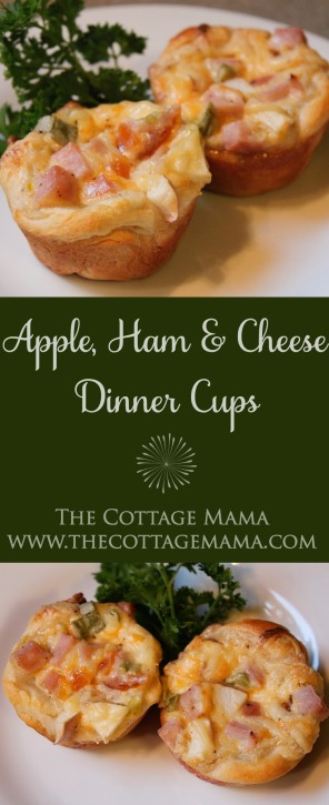 Apple, Ham and Cheese Dinner Cups from The Cottage Mama. www.thecottagemama.com