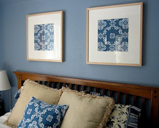 Above Is A Picture Of Our Bedroom, Where I Simply Framed Two Squares Of  Fabric To Tie The Room Together. Another Easy, Inexpensive Wall Art Project.