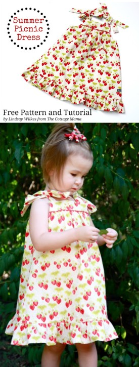 Summer Picnic Dress - Free Pattern from The Cottage Mama