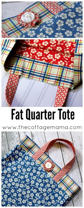 Fat Quarter Tote Tutorial - The Cottage Mama