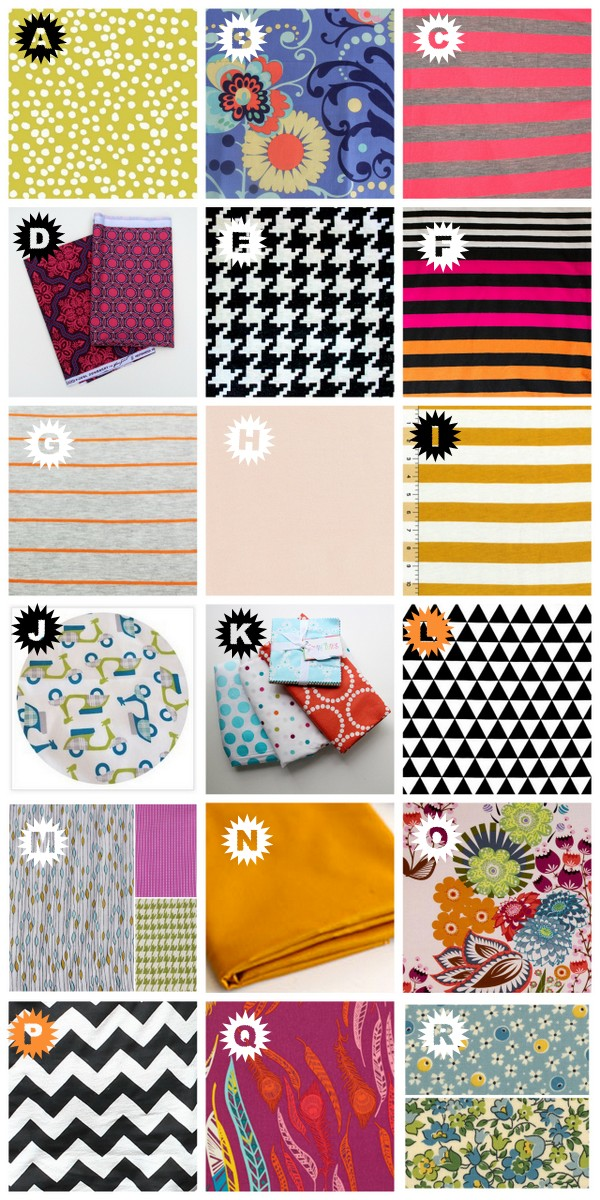fabric matching giveaway- win 24 yards of fabric from your favorite sewing bloggers!