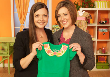Lindsay Wilkes on Sew It All TV. www.thecottagemama.com
