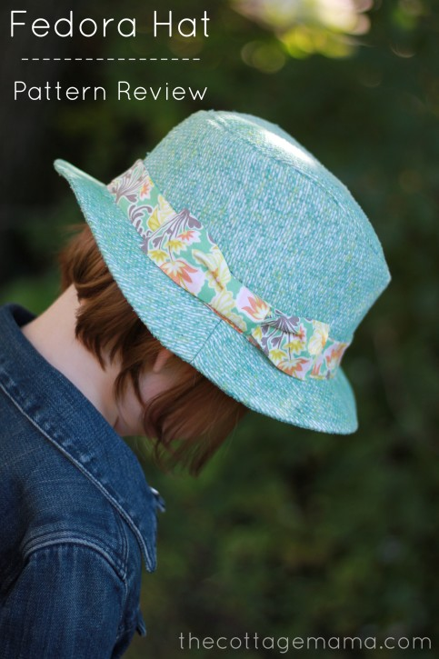 6ae678b3 Kids Fedora Hat Sewing Pattern Review - The Cottage Mama