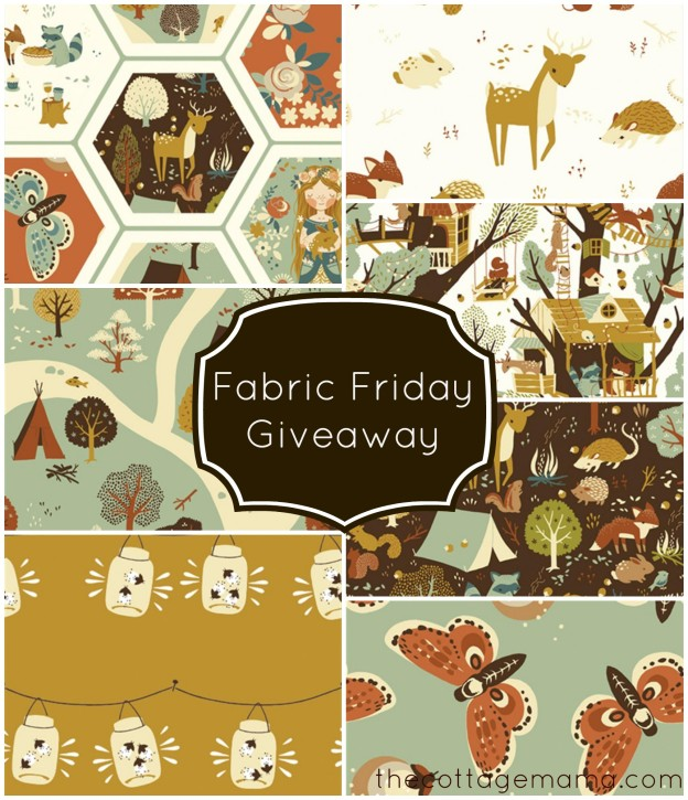 Fabric Giveaway from Crafter's Vision on The Cottage Mama. www.thecottagemama.com
