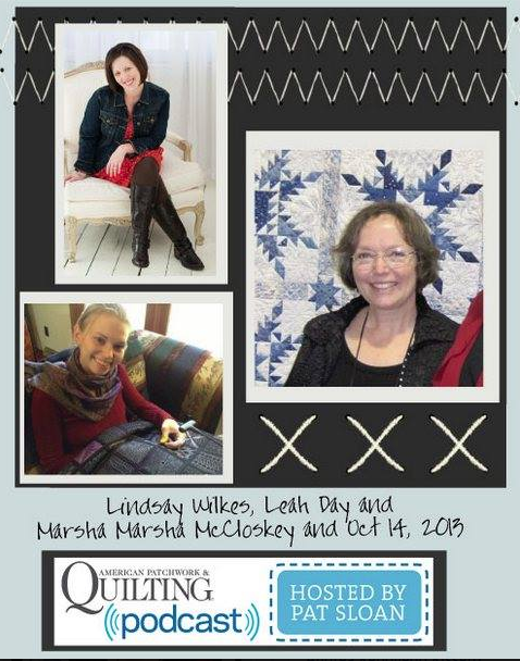 American Patchwork and Quilting Radio Podcast. Interview with Lindsay Wilkes from The Cottage Mama.