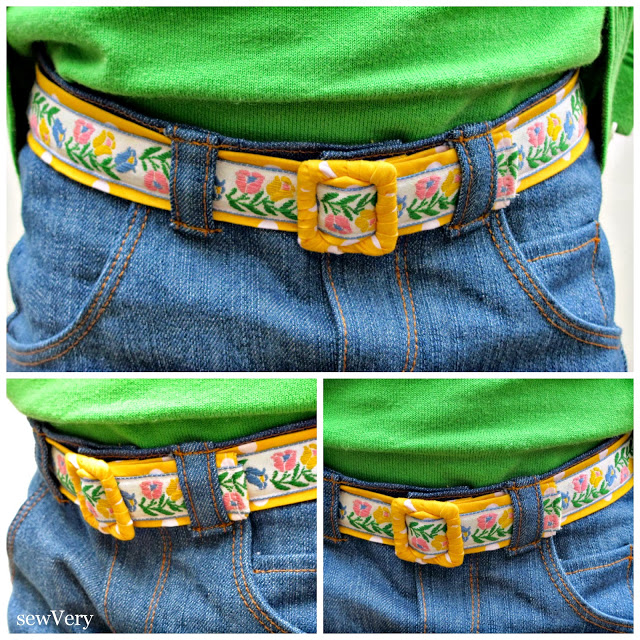 Reversible Vintage Trim Belt from The Cottage Mama. Guest post by Veronica from SewVery. www.thecottagemama.com