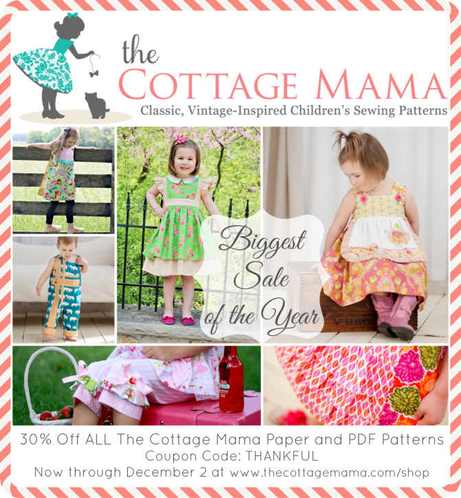 The Cottage Mama Pattern Sale. www.thecottagemama.com/shop