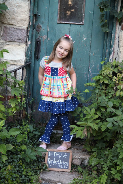 1st Day of Kindergarten Outfit by Lindsay Wilkes from The Cottage Mama. www.thecottagemama.com