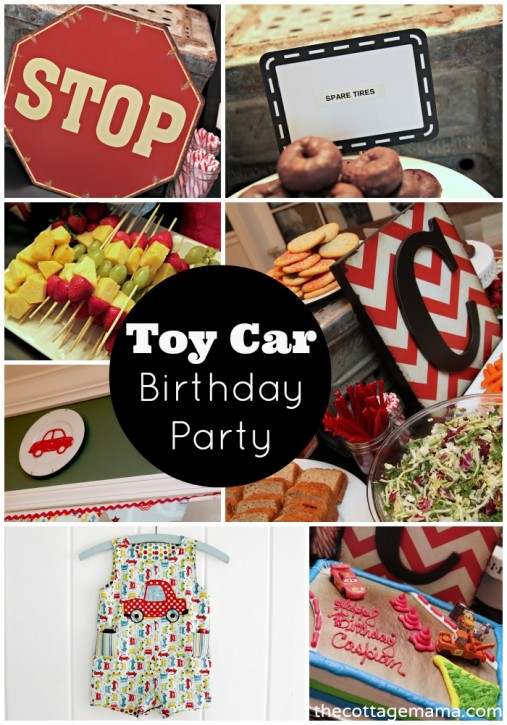 Toy Car Themed Boys Birthday Party by Lindsay Wilkes from The Cottage Mama. www.thecottagemama.com