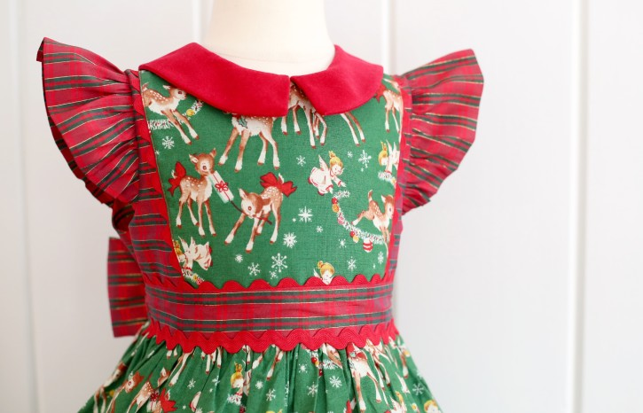Georgia Vintage Christmas Dress. Pattern from The Cottage Mama. www.thecottagemama.com
