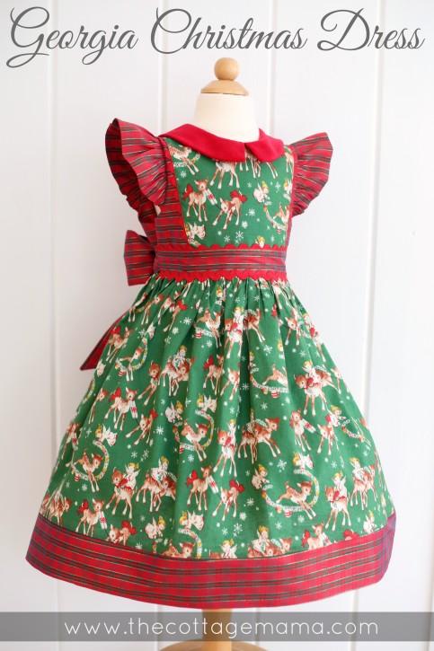 georgia vintage christmas dress pattern from the cottage mama wwwthecottagemamacom - Vintage Christmas Dress