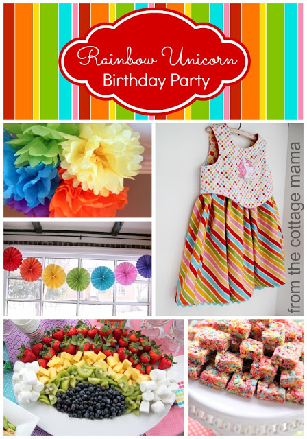 Rainbow Unicorn Birthday Party. www.thecottagemama.com