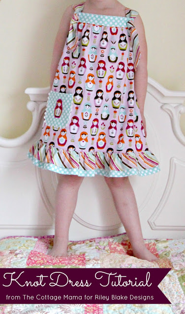Free Knot Dress Tutorial from The Cottage Mama. www.thecottagemama.com