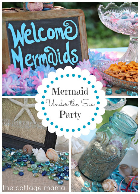 Mermaid Under the Sea Birthday Party by Lindsay Wilkes from The Cottage Mama. www.thecottagemama.com