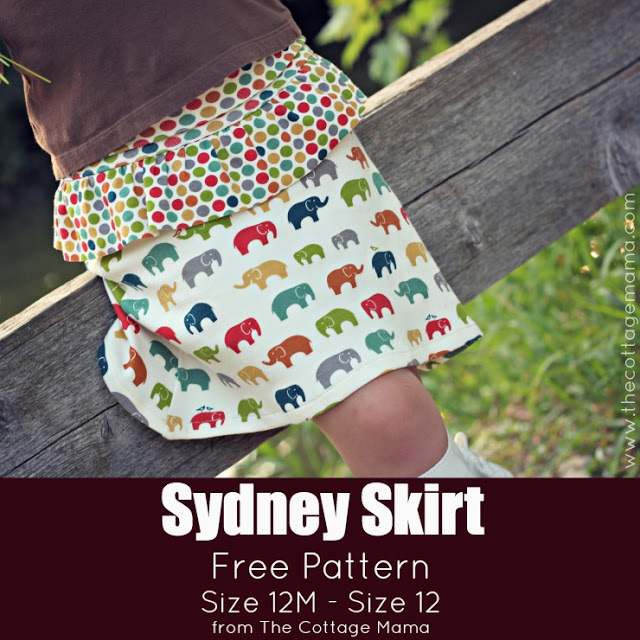 The Sydney Skirt Free Pattern and Tutorial by Lindsay Wilkes from The Cottage Mama. www.thecottagemama.com