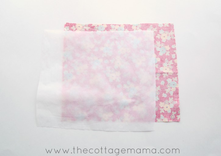 Fabric Covered Mouse Pad by Lindsay Wilkes from The Cottage Mama. www.thecottagemama.com