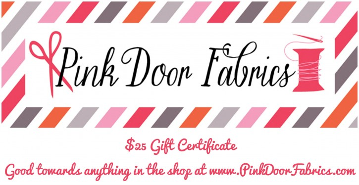 Pink Door Fabrics Giveaway on The Cottage Mama.