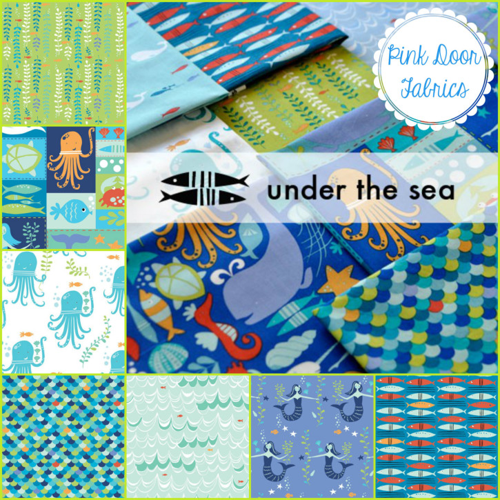 Under the Sea by Monaluna from Pink Door Fabrics on The Cottage Mama