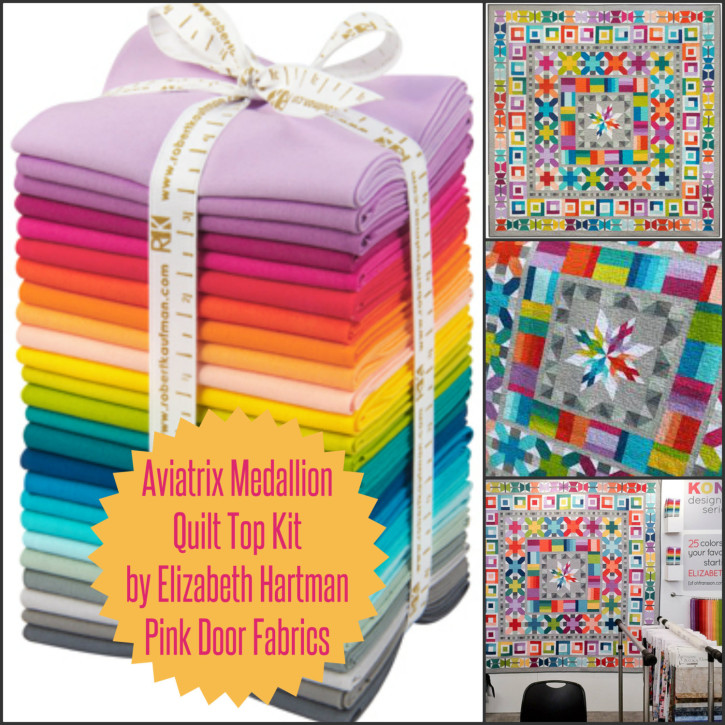 Aviatrix Medallion Quilt KIT with Pattern - Elizabeth Hartman of Oh Fransson from Pink Door Fabrics on The Cottage Mama