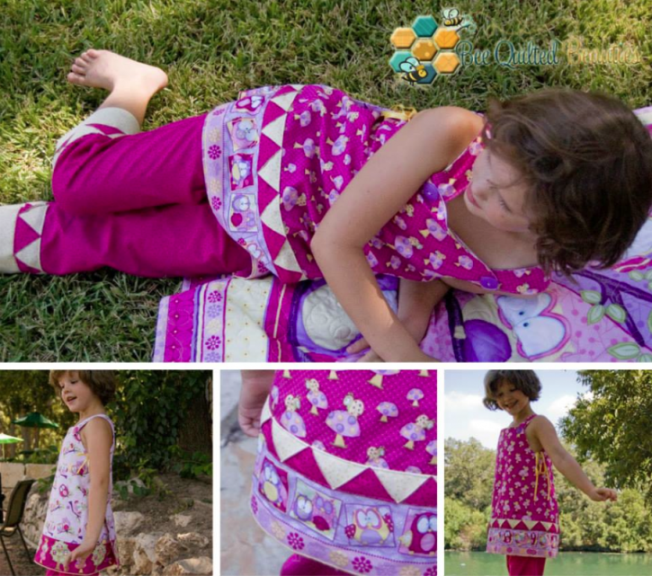 The Cottage Mama Sewing Contest. Daphne Wrap Dress and Skip and Play Pants and Capris. www.thecottagemama.com
