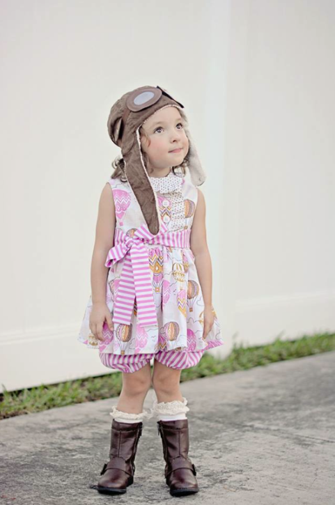 Miss Matilda Dress and Top Pattern from The Cottage Mama. www.thecottagemama.com