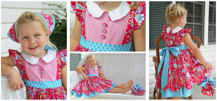 Georgia Vintage Dress Pattern from The Cottage Mama. www.thecottagemama.com