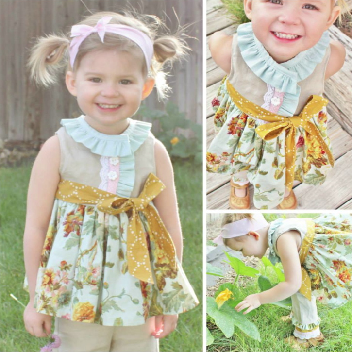 Miss Matilda Dress and Top Pattern. Skip and Play Pants and Capris Pattern. From The Cottage Mama. www.thecottagemama.com