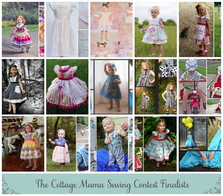The Cottage Mama Sewing Contest Finalists. www.thecottagemama.com