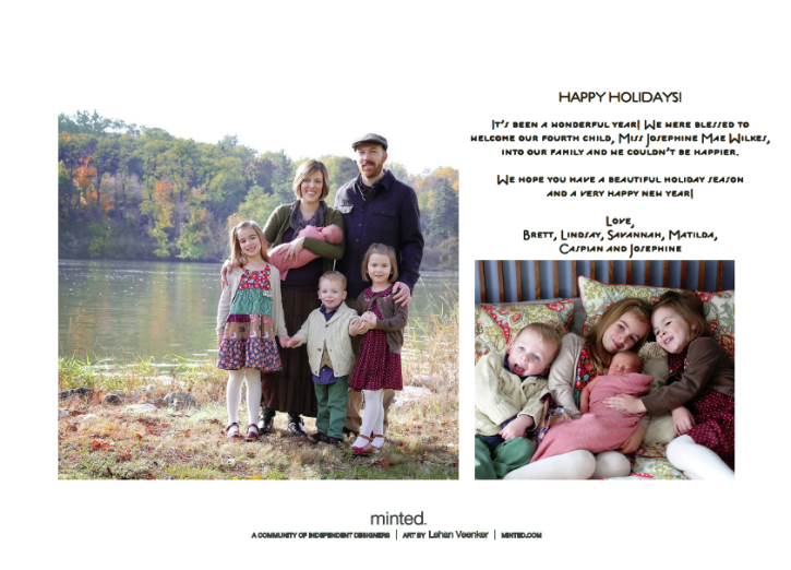 Holiday Card from The Cottage Mama