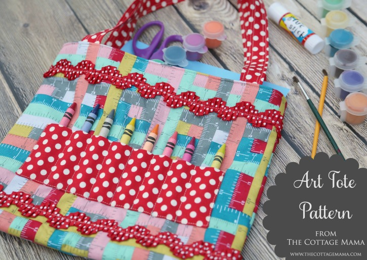 Crayon Art Tote Pattern and Tutorial - The Cottage Mama