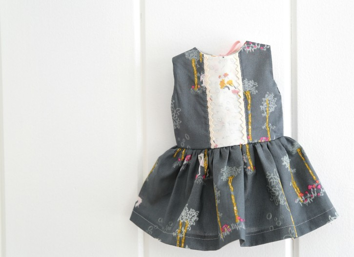 Unicorn Birthday Dress and Matching Doll Dress from The Cottage Mama. www.thecottagemama.com