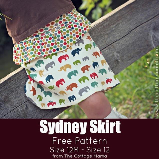 FREE Skirt Pattern. www.thecottagemama.com