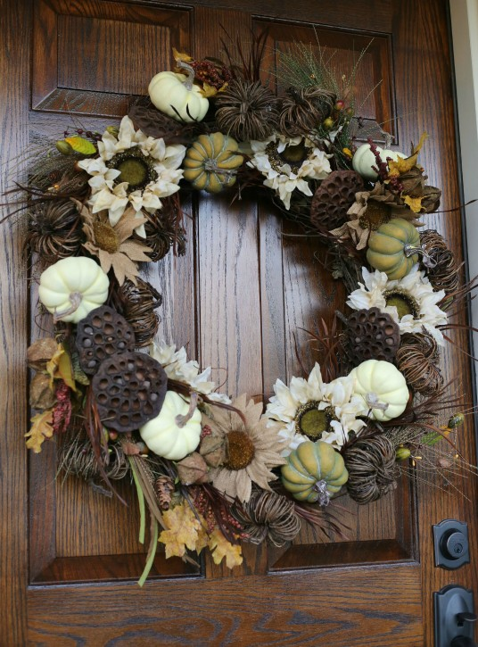 DIY Fall Wreath Tutorial from The Cottage Mama