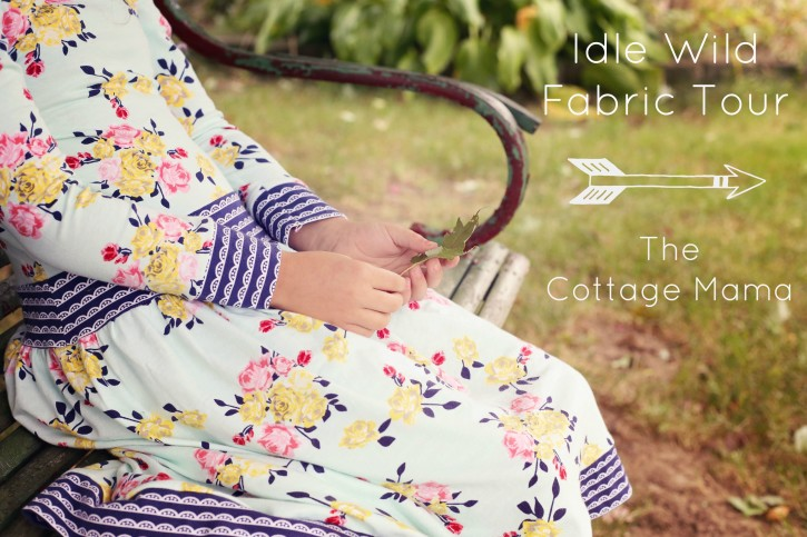 Idle Wild Fabric Tour. Knit Dress from The Cottage Mama. www.thecottagemama.com