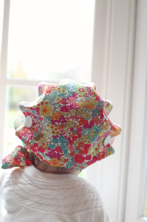 Josie Mae Bonnet Pattern from The Cottage Mama. PDF Pattern. www.thecottagemama.com/shop