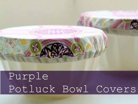 Potluck Bowl Covers. Great for picnics or outdoor events. Keeps those bugs off the food!! From The Cottage Mama