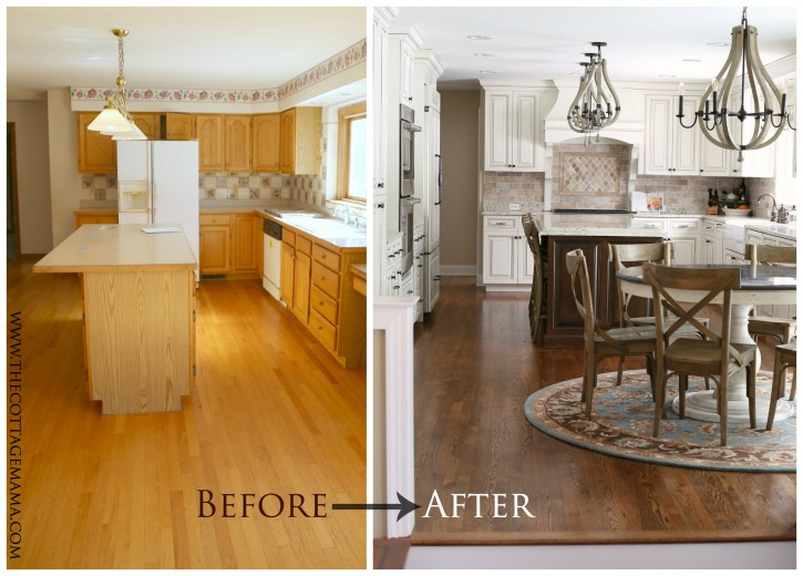 Before and After Kitchen Makeover - The Cottage Mama