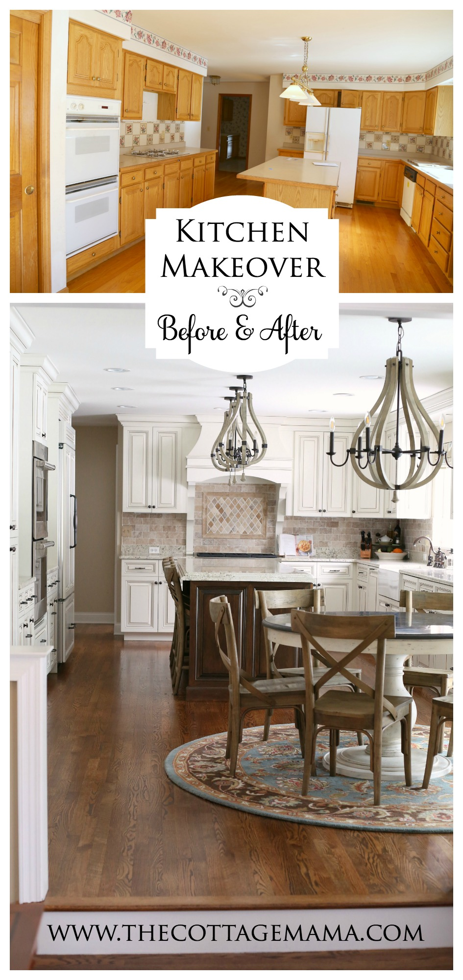 Check out this incredible before and after kitchen makeover from The Cottage Mama. Amazing!