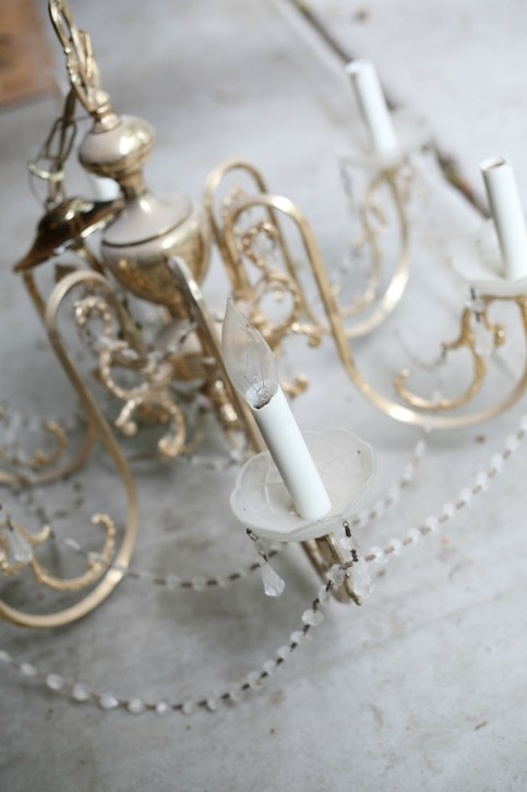 Girls Chandelier Makeover. This is SO cute! From The Cottage Mama