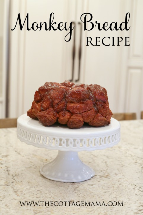 Monkey Bread Recipe. This is the BEST thing EVER!! The Cottage Mama. www.thecottagemama.com