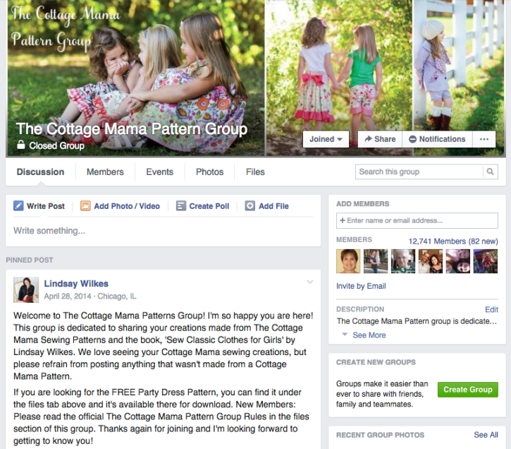 The Cottage Mama Pattern Group on Facebook. Must join!!