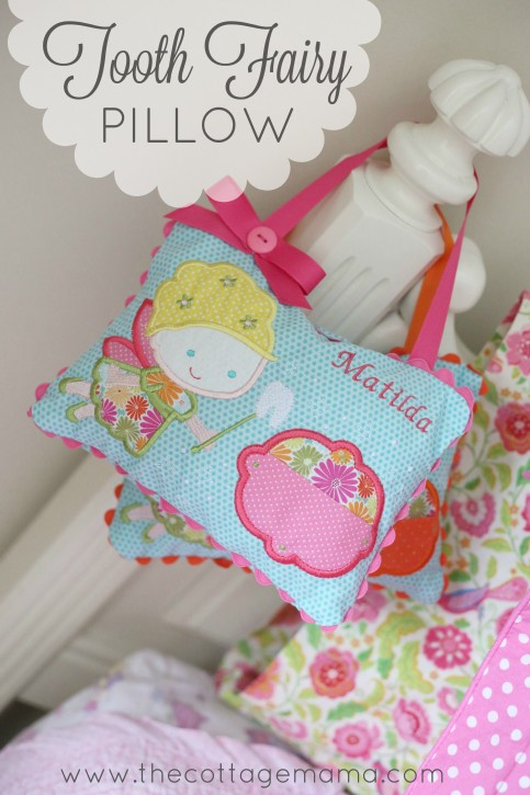 Adorable Tooth Fairy Pillows on The Cottage Mama