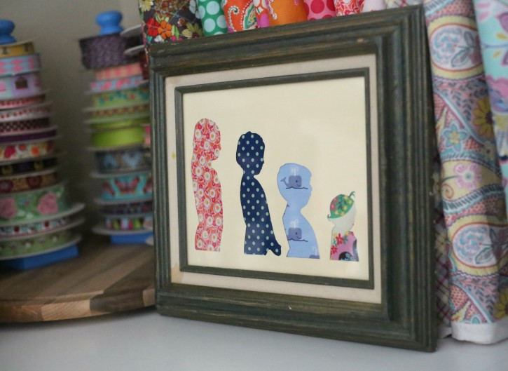 Fabric Silhouette Art from The Cottage Mama. www.thecottagemama.com