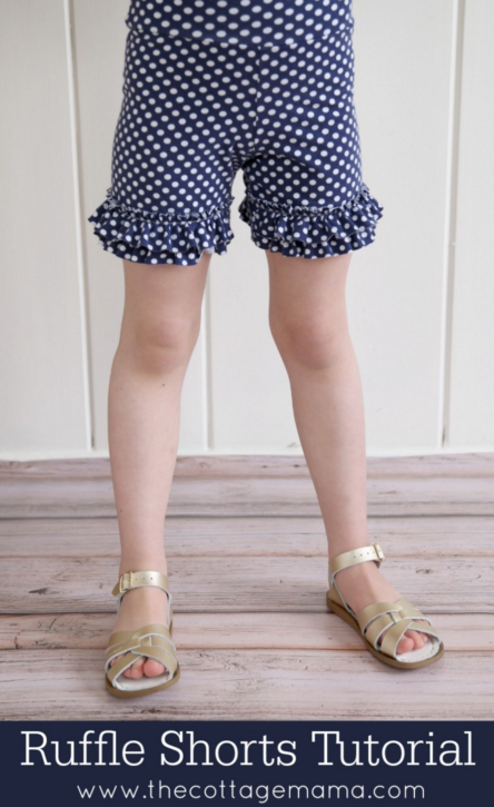Ruffle Shorts. FREE Tutorial from The Cottage Mama.