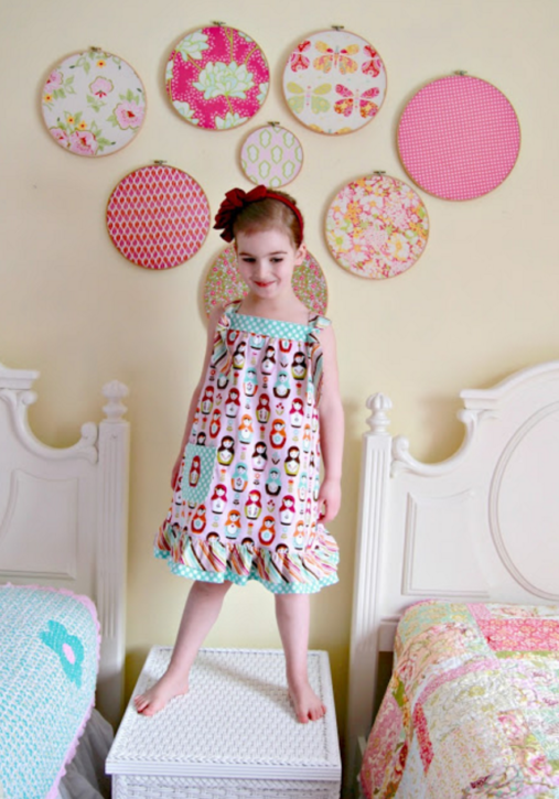 Easy Knot Dress Free Pattern and Tutorial from The Cottage Mama.
