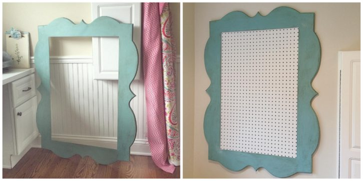 DIY Framed Pegboard Tutorial. Sewing and Craft Room. The Cottage Mama.